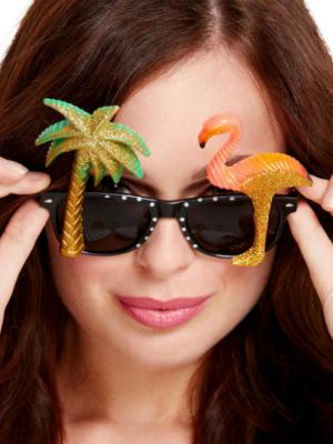 Brilles, flamingo un palma