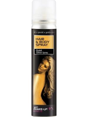 Gliteri matiem un ķermeņim, zelta, 75 ml