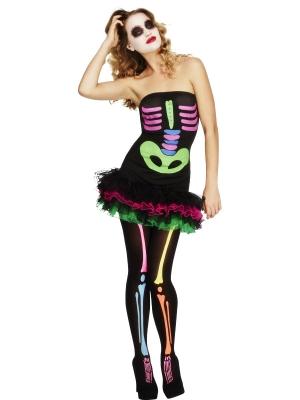 Neona skeleta kostīms