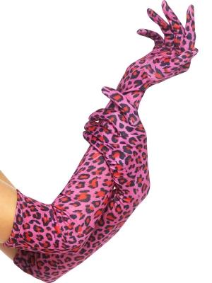 Cimdi, leoparda raksts, 52 cm