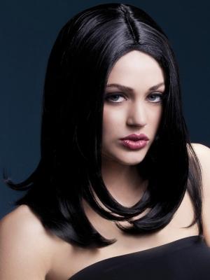 Parūka Sofija, melna, 43 cm