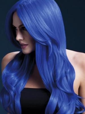 Parūka Hloja, neona zila, 66 cm