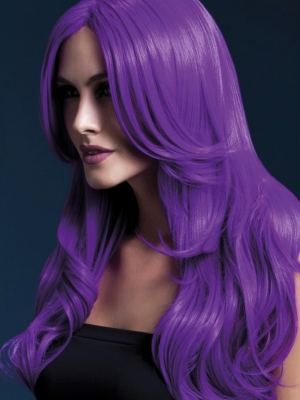 Parūka Hloja,  neona violeta, 66 cm