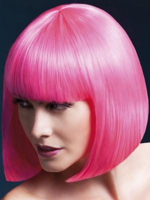 Parūka Elisa, neona rozā, 33 cm