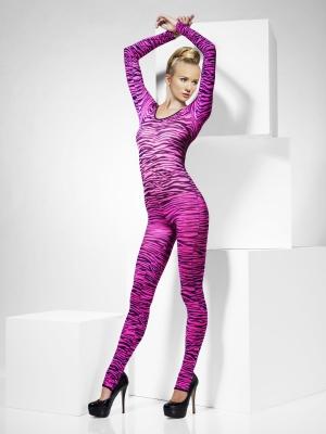 Zebras bodijs, rozā