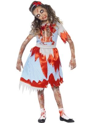 Zombiju lauku meitenes kostīms