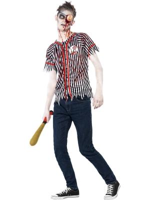 Zombija beisbolista kostīms