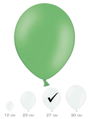 10 gab, Zaļš, pasteļtonis, 27 cm