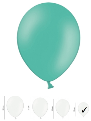 100 gab, Zilganzaļš, pasteļtonis, 12 cm