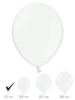 100 gab, Balts, pasteļtonis, 12 cm