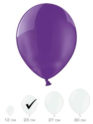100 gab, Violets, caurspīdīgs, 23 cm