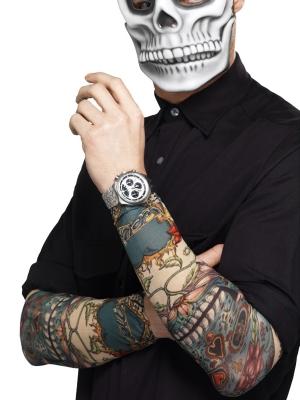 Tetovētas piedurknes, krāsainas