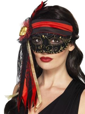 Maskarādes pirātu maska