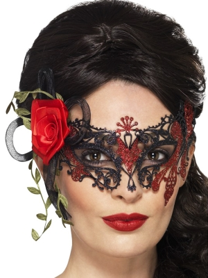 Filigrāna acu maska, metāls