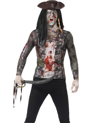 Zombija pirātu krekls