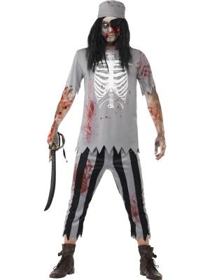 Pirātu zombija kostīms