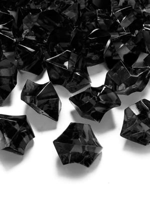 50 gab, Kristāla ledus, melns,  25 x 21 mm