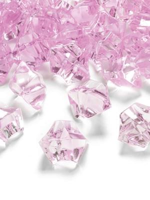 50 gab, Kristāla ledus, rozā, 25 x 21 mm