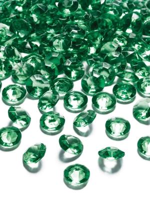100 gab, Dimantu konfeti, zaļš, 12 mm