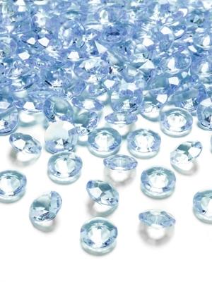 100 gab, Dimantu konfeti, debesu zils, 12 mm