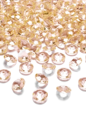 100 gab, Dimantu konfeti, zelta, 12 mm