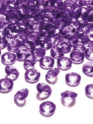 100 gab, Dimantu konfeti, plūmju krāsā, 12 mm