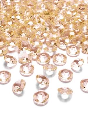 10 gab, Dimantu konfeti, zelta, 20 mm