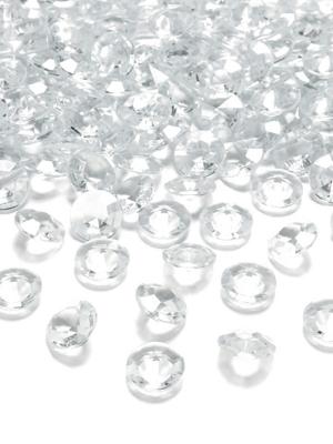10 gab, Dimantu konfeti, bezkrāsains, 20 mm
