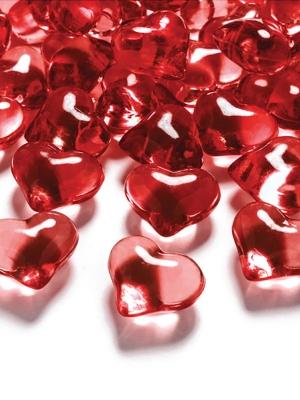 30 gab, Kristāla sirds, sarkana, 21 mm