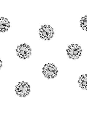 50 gab, Ziedi, sudraba, 10 mm