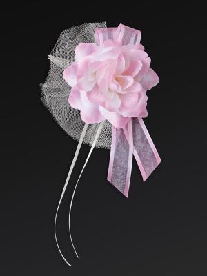 4 gab, Pušķis ar rozi, rozā, 14 cm