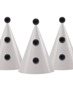 3 gab, Papīra cepures ar bumbuļiem, bēša, 10 х 16 cm