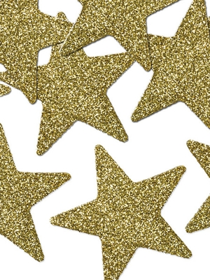 8 gab, Zvaigznes ar gliteriem,5 cm