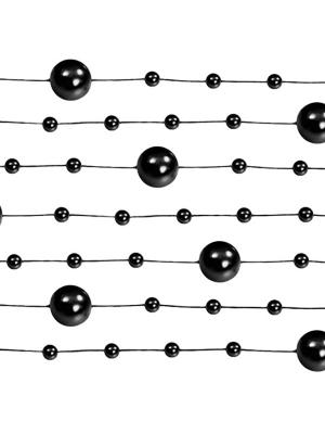 5 gab, Pērļu virtene, melna, 1.3 m
