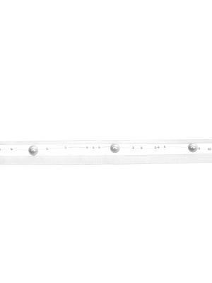 Virtene ar pērlēm un lentu, balta, 1.2 m