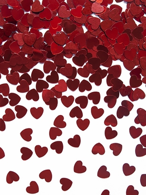 Konfeti sirsniņas, sarkanas, 5 mm, 30 gr