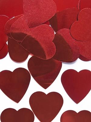 Konfeti sirdis, sarkanas, 25 mm, 10 gr