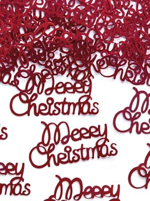 Konfeti Merry Christmas, 4.2 x 2.2 cm, 3 gr