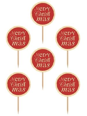 6 gab, Iesmiņi Merry Christmas, h 9.2 cm