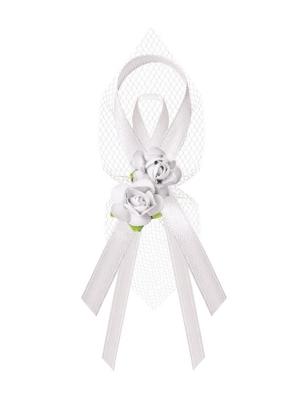 Līgavaiņa piespraude, balta, 9 cm