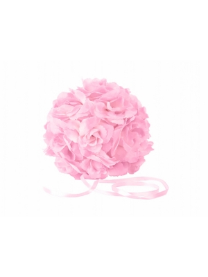 3 gab, Ziedu bumbas, rozā, 17 cm
