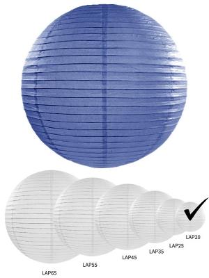 Papīra laterna, karaliski zila, 20 cm
