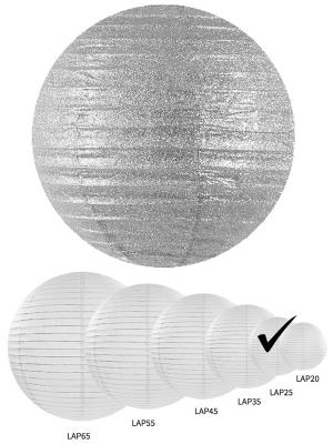 Laterna ar gliteriem, sudraba, 25 cm