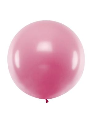 1 metra balons, gaiši rozā, metālisks