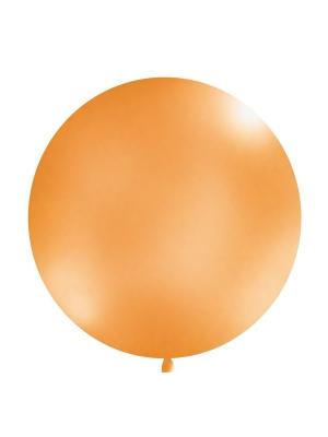 1 metra balons, oranžs, metālisks