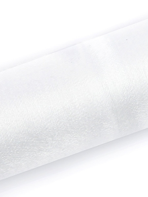 Organza Snow, balta, 0.16 x 9 m