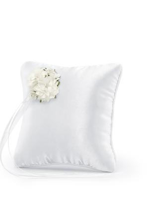Gredzenu spilvens, balts, 16 x 16 cm