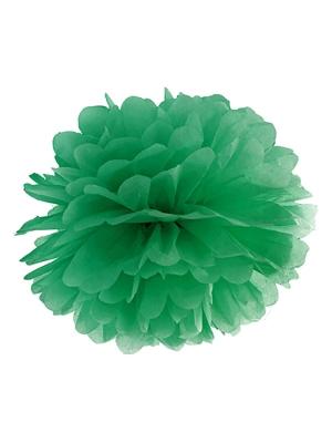 Zīdpapīra bumba, smaragdzaļa, 25 cm
