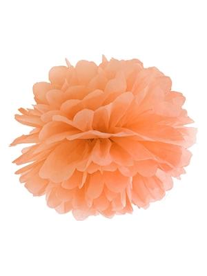 Zīdpapīra bumba, gaiši oranža, 25 cm