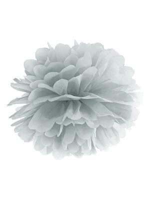Zīdpapīra bumba, sudraba, 25 cm
